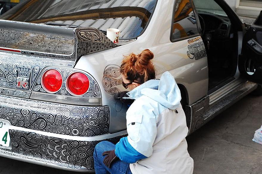 Nissan Skyline GTR v rukách talentovanej manželky